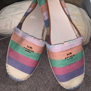 Colored Coach shoes